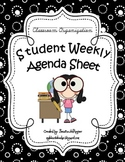 Student Weekly Agenda / Objectives Sheet
