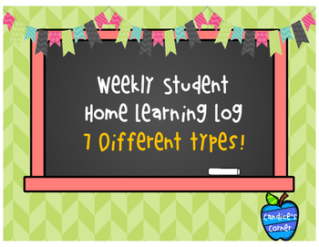 Student Weekly Home learning Logs