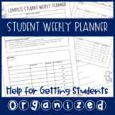 [FREEBIE] Student Weekly Planner for Helping Students Get Organized