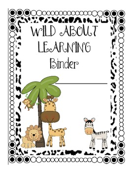 Student Weekly Progress Binder Jungle-Theme