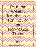 Student Weekly Reading Log for Fiction and Nonfiction Texts