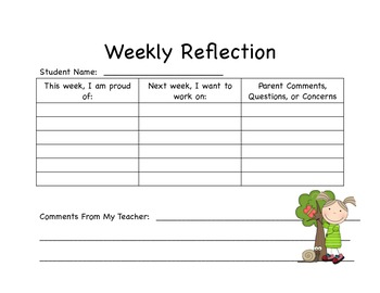 Student Weekly Reflection