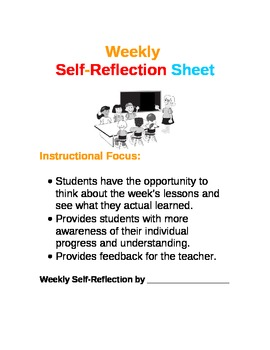 Student Weekly Reflection Sheet