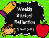 Student Weekly Reflection Sheet (editable)