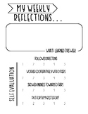 Student Weekly Reflections