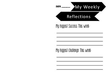 Student Weekly Self Evaluation