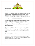 Student Welcome Letter