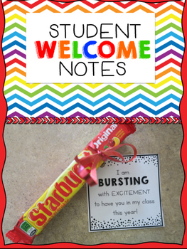 Student Welcome Notes