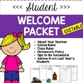 Student Welcome Packet [Editable]