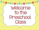 Student Welcome Post Card: Preschool