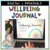 Wellbeing Journal   Distance Learning   Digital and Printable