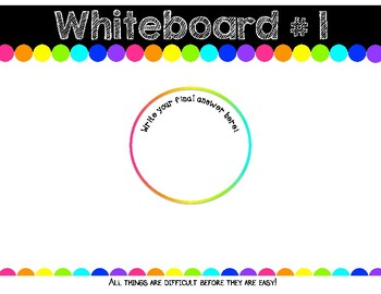 Student Whiteboards