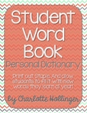 Student Word Book // Personal Dictionary
