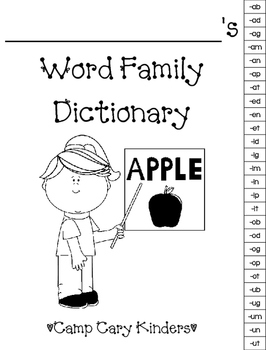 Student Word Families Dictionary
