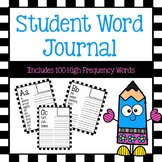 Student Word Journal with High Frequency Words
