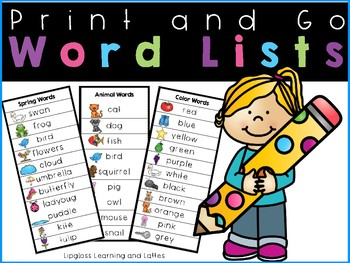 How Do You Spell? Student Helper Word Lists