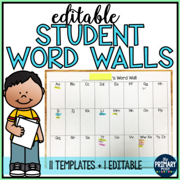 Student Word Walls Packet (editable!)