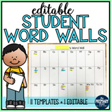 EDITABLE Student Word Walls Packet