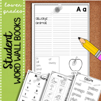 Student Word Wall Book