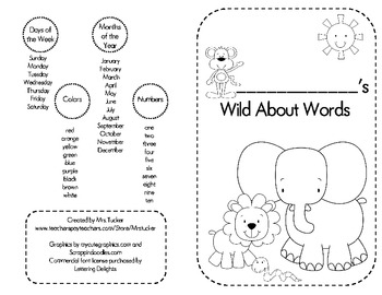Student Word Wall / Spelling Booklet