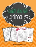 Student Word Wall Dictionaries