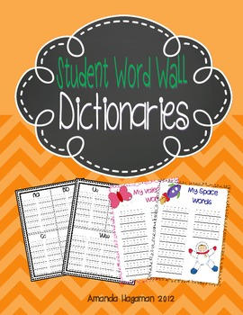 Student Word Wall Dictionaries