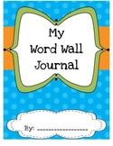 Student Word Wall Journal - Polka Dot Theme
