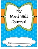 Student Word Wall Journal - Polka Dot Theme