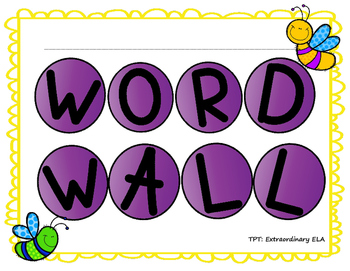 Student Word Wall Template FREEBIE