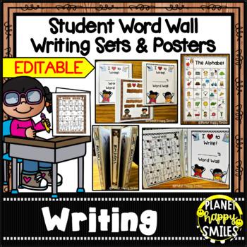 Student Word Wall Writing Set (editable)