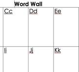 Student Word Walls
