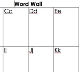 Student Word Walls