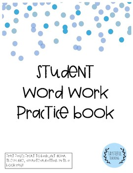 Student Word Work Practice Book