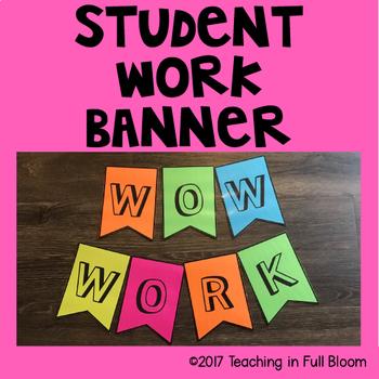 Student Work Banner