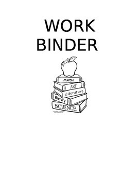 Student Work Binder Template