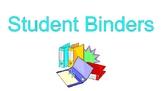 Student Work Binders