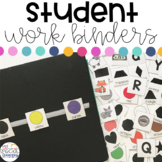 Student Work Binders for Special Education