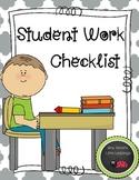 Student Work Checklist