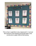 Student Work Classroom Display interactive bulletin board Star Work