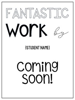 Student Work - Coming Soon!