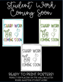 Student Work Coming Soon Cactus Theme Posters (EDITABLE)