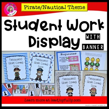 Student Work Display with Banner (Pirate/Nautical Theme)