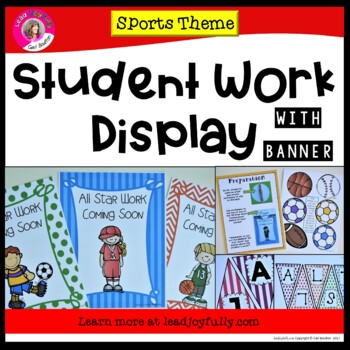 Student Work Display with Banner! (Sports Theme)