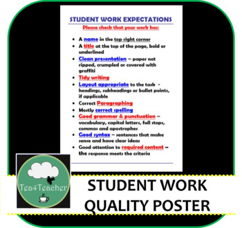 Student Work Expectations - Secondary Student Work Quality Expectations Senior
