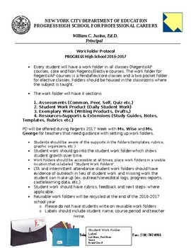 Student Work Folder Protocols