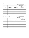 Student Work Log for Exam Review Packets