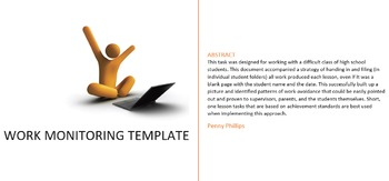 Student Work Monitoring Template