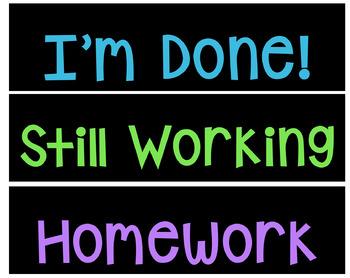 Student Work Organization Labels