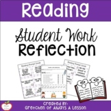 Student Work Reflection Sheet for Reading