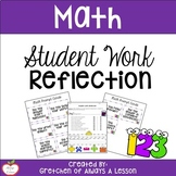 Student Work Reflection Sheet for Math